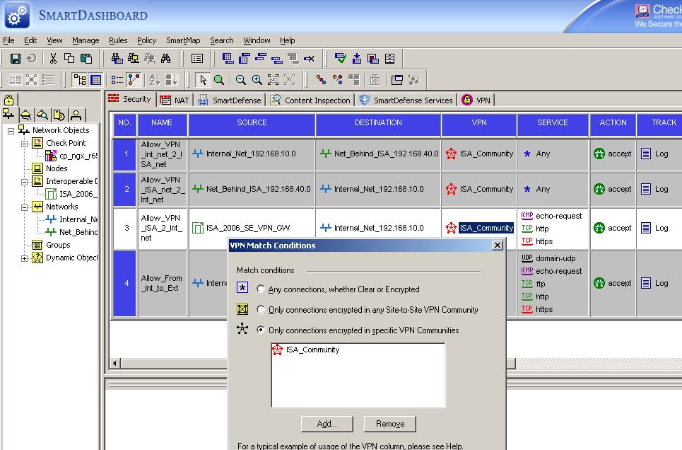 Configure an IPsec Tunnel Mode Site-to-Site VPN between an ISA
