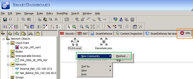 Configure an IPsec Tunnel Mode Site-to-Site VPN between an