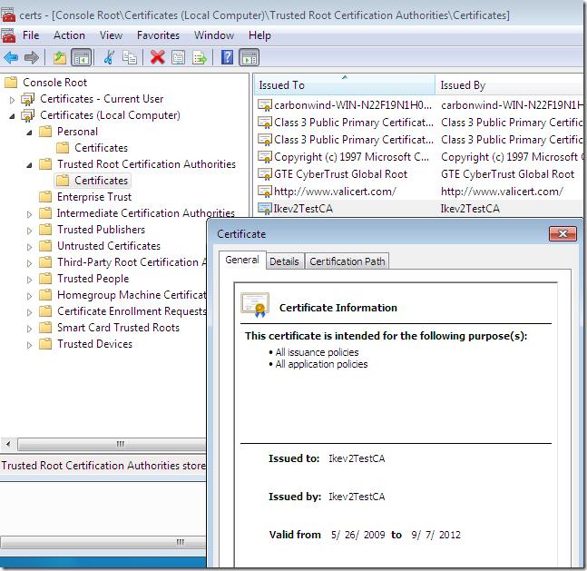 Adrian Dimcev's Blog | VPN Reconnect in Windows 7 RC - redux